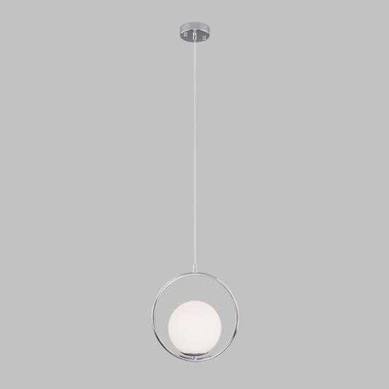 Фото №3 Подвесной светильник со стеклянным плафоном 50089/1 хром