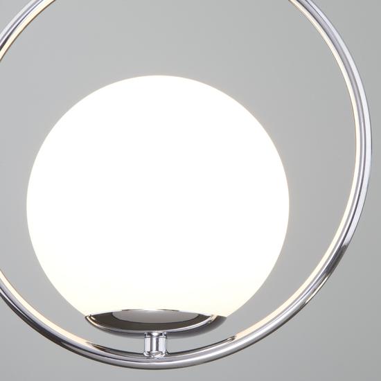 Фото №4 Подвесной светильник со стеклянным плафоном 50089/1 хром
