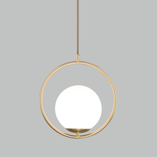 Фото №2 Подвесной светильник со стеклянным плафоном 50089/1 золото
