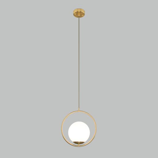 Фото №3 Подвесной светильник со стеклянным плафоном 50089/1 золото