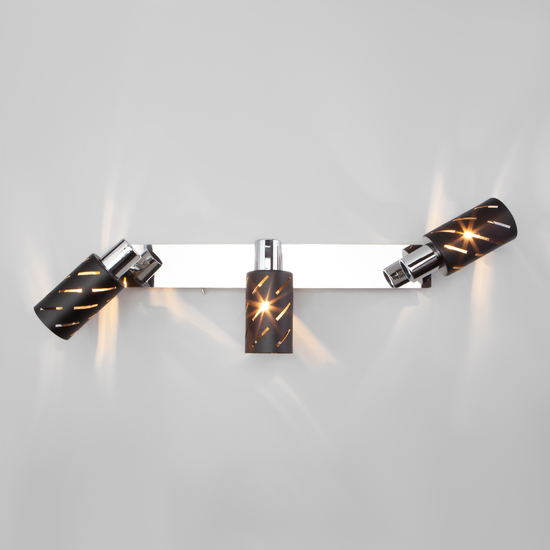 Фото №5 Настенный светильник с поворотными плафонами 20090/3 черный/хром