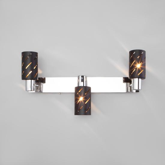 Фото №6 Настенный светильник с поворотными плафонами 20090/3 черный/хром