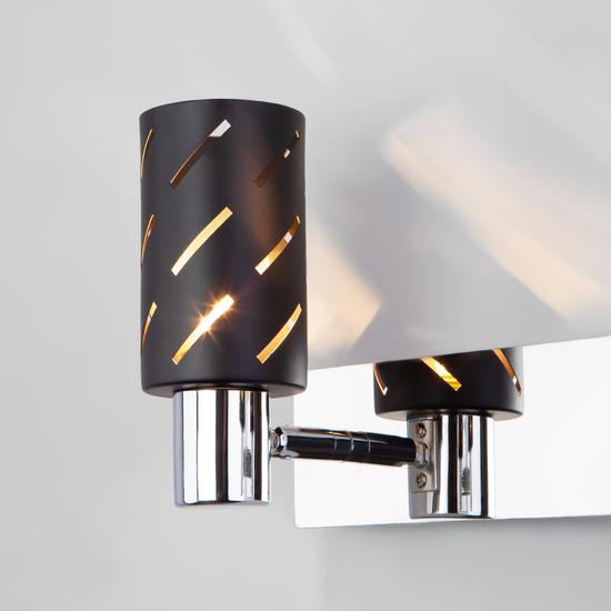 Фото №3 Настенный светильник с поворотными плафонами 20090/2 черный/хром