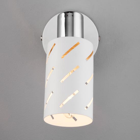 Фото №6 Настенный светильник с поворотным плафоном 20090/1 белый/хром