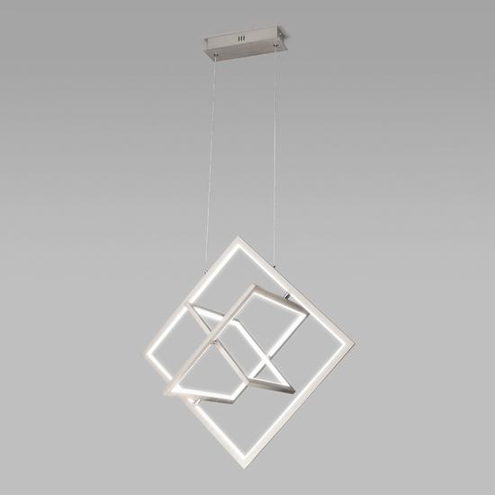 Фото №2 Подвесной светодиодный светильник 90224/3 матовое серебро