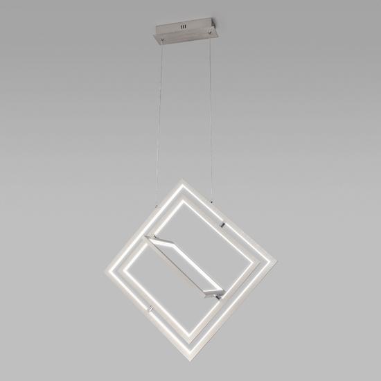Фото №3 Подвесной светодиодный светильник 90224/3 матовое серебро