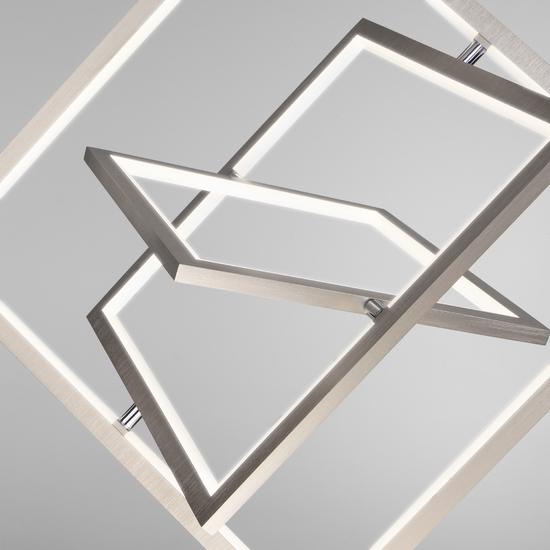Фото №4 Подвесной светодиодный светильник 90224/3 матовое серебро