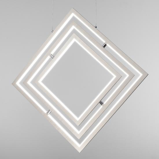 Фото №5 Подвесной светодиодный светильник 90224/3 матовое серебро
