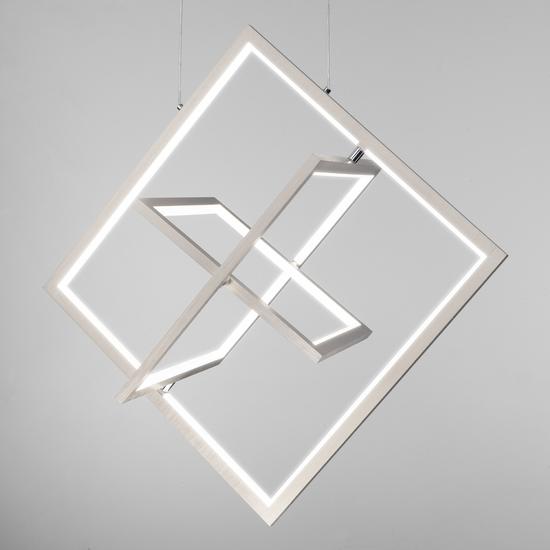 Фото №6 Подвесной светодиодный светильник 90224/3 матовое серебро