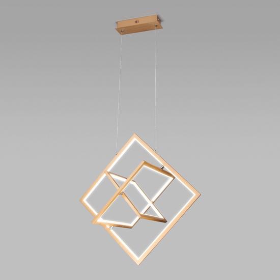 Фото №2 Подвесной светодиодный светильник 90224/3 матовое золото