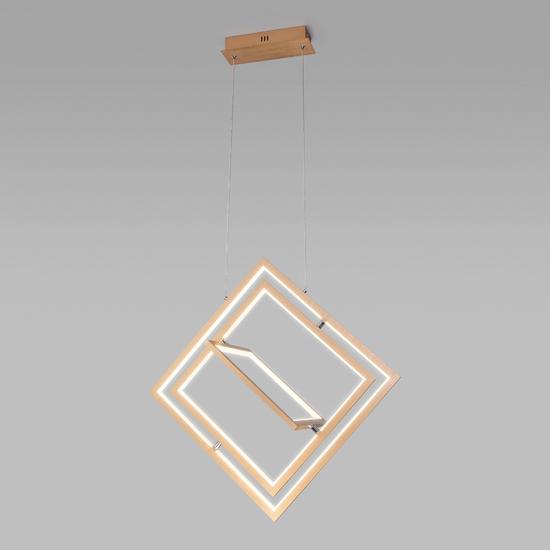 Фото №3 Подвесной светодиодный светильник 90224/3 матовое золото