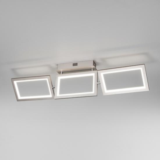 Фото №3 Потолочный светодиодный светильник 90223/3 матовое серебро