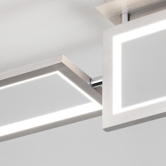 Фото №4 Потолочный светодиодный светильник 90223/3 матовое серебро