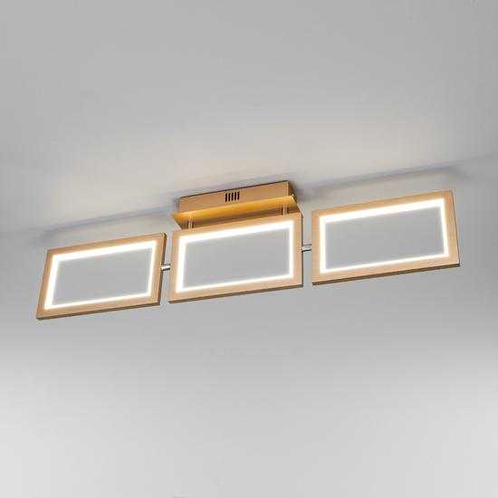 Фото №2 Потолочный светодиодный светильник 90223/3 матовое золото