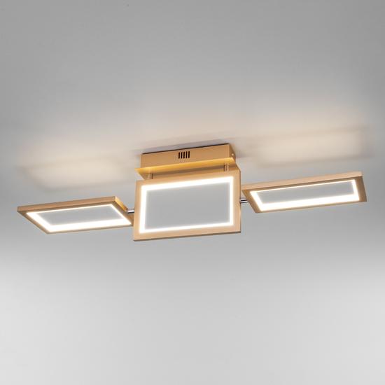 Фото №3 Потолочный светодиодный светильник 90223/3 матовое золото