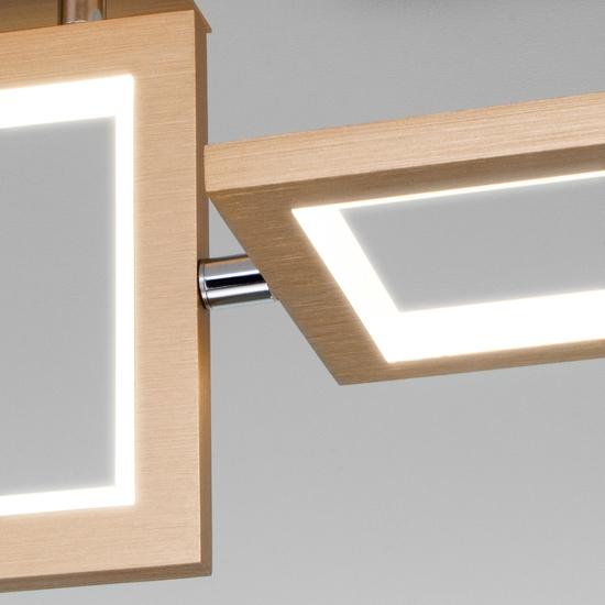 Фото №4 Потолочный светодиодный светильник 90223/3 матовое золото
