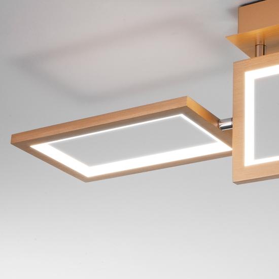 Фото №5 Потолочный светодиодный светильник 90223/3 матовое золото