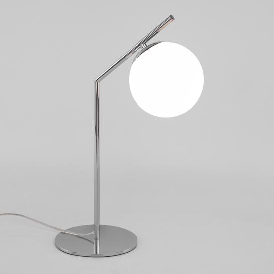 Фото №2 Настольная лампа со стеклянным плафоном 01082/1 хром