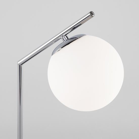 Фото №4 Настольная лампа со стеклянным плафоном 01082/1 хром