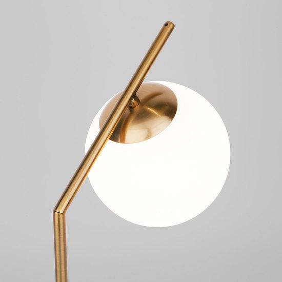 Фото №4 Настольная лампа со стеклянным плафоном 01082/1 латунь