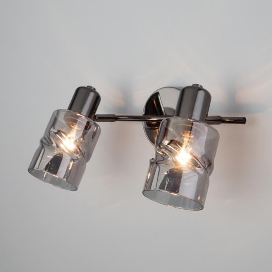Фото №2 Настенный светильник с выключателем 20120/2 чёрный жемчуг