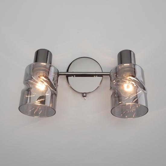 Фото №3 Настенный светильник с выключателем 20120/2 чёрный жемчуг