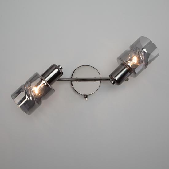 Фото №5 Настенный светильник с выключателем 20120/2 чёрный жемчуг