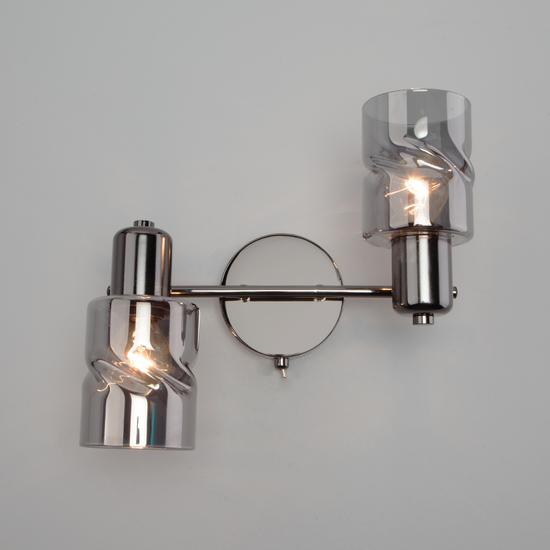 Фото №6 Настенный светильник с выключателем 20120/2 чёрный жемчуг