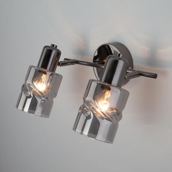 Фото №7 Настенный светильник с выключателем 20120/2 чёрный жемчуг