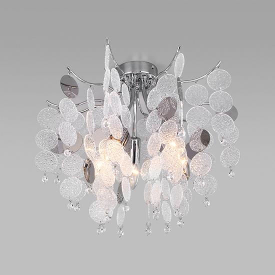 Фото №2 Потолочная люстра с декором из фактурного стекла 319/5