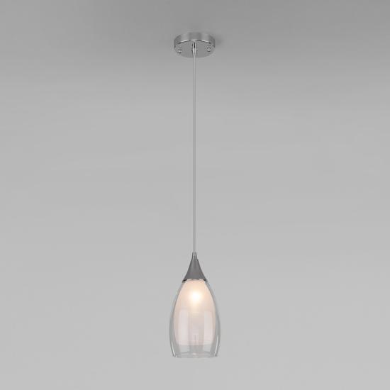 Фото №3 Подвесной светильник со стеклянным плафоном 50085/1 хром