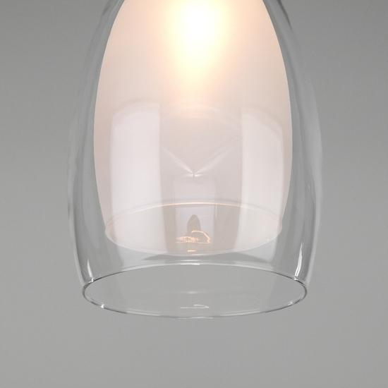 Фото №4 Подвесной светильник со стеклянным плафоном 50085/1 хром