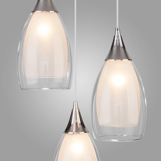 Фото №5 Подвесной светильник со стеклянными плафонами 50085/3 хром