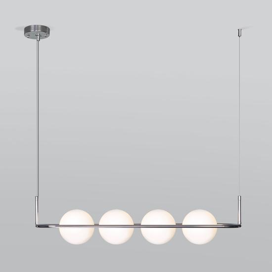 Фото №2 Подвесной светильник со стеклянными плафонами 50089/4 хром