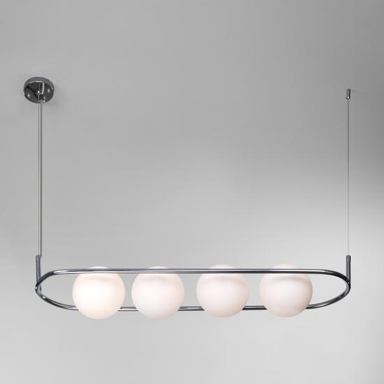 Фото №3 Подвесной светильник со стеклянными плафонами 50089/4 хром