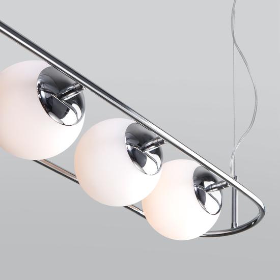 Фото №4 Подвесной светильник со стеклянными плафонами 50089/4 хром