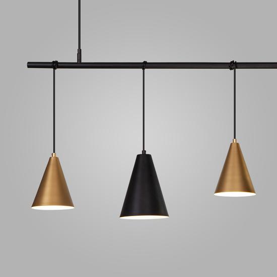 Фото №3 Подвесной светильник 50088/5 черный/золото