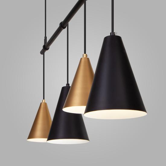 Фото №4 Подвесной светильник 50088/5 черный/золото