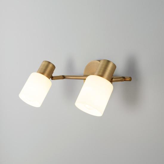 Фото №2 Настенный светильник с поворотными плафонами 20089/2 бронза