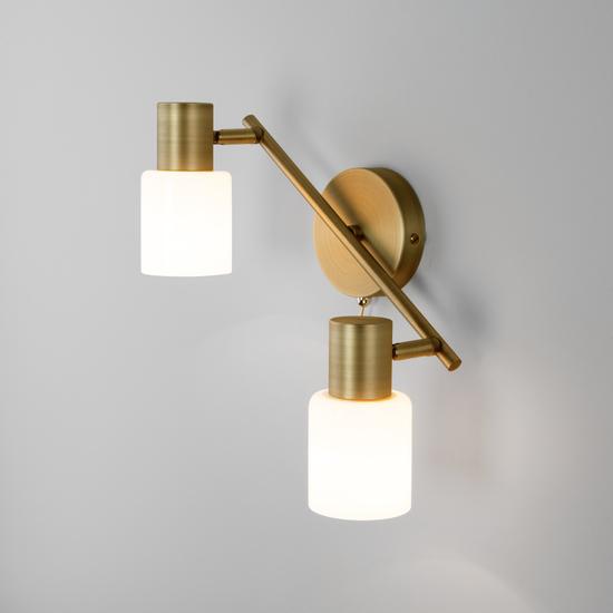 Фото №3 Настенный светильник с поворотными плафонами 20089/2 бронза