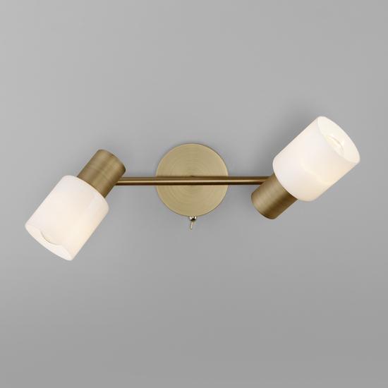 Фото №4 Настенный светильник с поворотными плафонами 20089/2 бронза