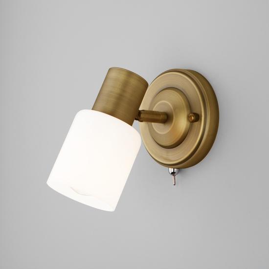 Фото №2 Настенный светильник с поворотным плафоном 20089/1 бронза