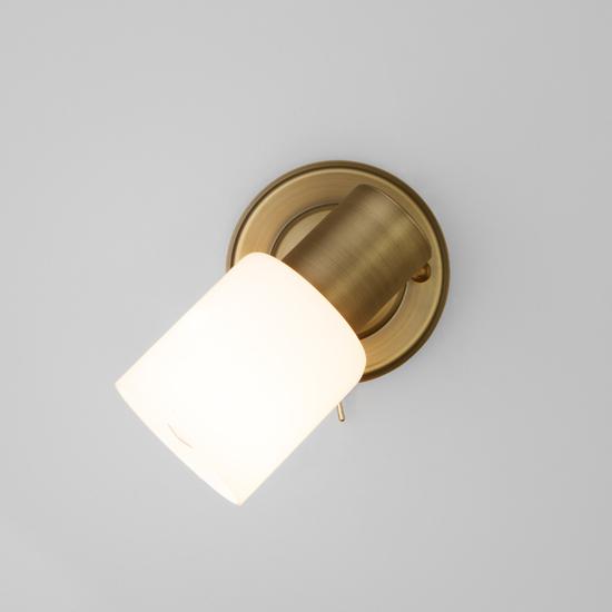 Фото №3 Настенный светильник с поворотным плафоном 20089/1 бронза