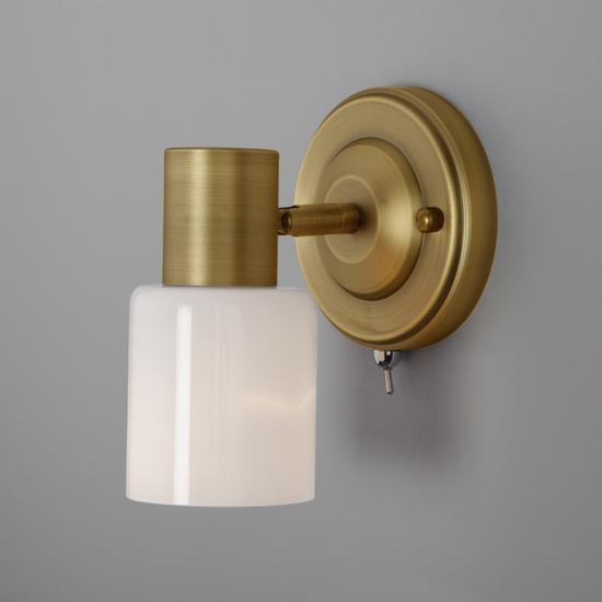 Фото №4 Настенный светильник с поворотным плафоном 20089/1 бронза