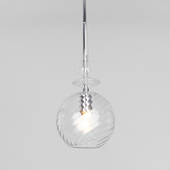 Фото №2 Подвесной светильник со стеклянным плафоном 50192/1 прозрачный
