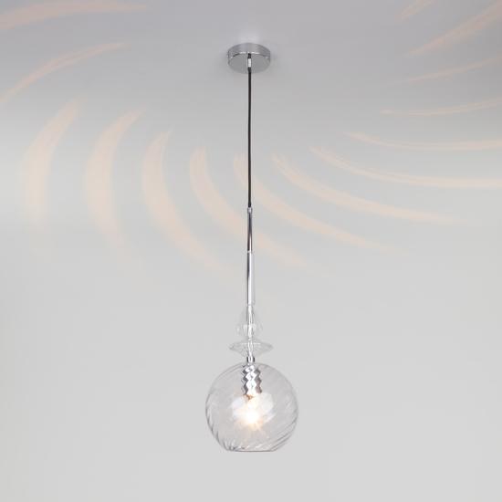 Фото №3 Подвесной светильник со стеклянным плафоном 50192/1 прозрачный