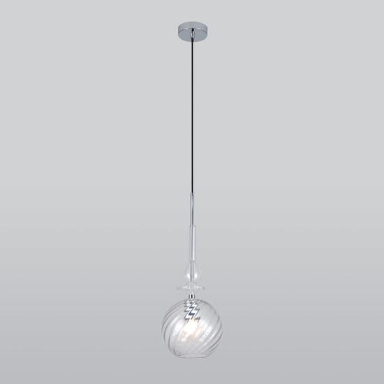 Фото №4 Подвесной светильник со стеклянным плафоном 50192/1 прозрачный