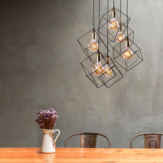 Фото №4 Подвесной светильник в стиле лофт 191 Alambre