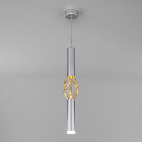 Фото №2 Подвесной светодиодный светильник 50191/1 LED матовое серебро/матовое золото