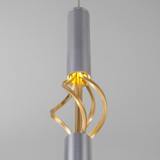 Фото №3 Подвесной светодиодный светильник 50191/1 LED матовое серебро/матовое золото